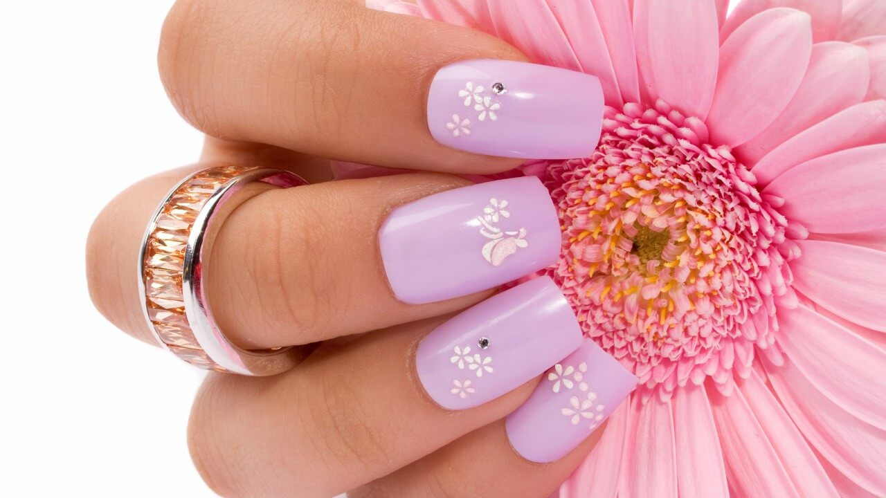 Rosa-flores-dedo-pregos-720x1280
