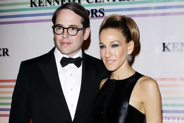 WASHINGTON, DC - DECEMBER 04:  Actors Matthew Broderick (L) and Sarah Jessica Parker arrive at the 34th Kennedy Center Honors held at the Kennedy Center Hall of States on December 4, 2011 in Washington, DC.  (Photo by Michael Tran/Getty Images)