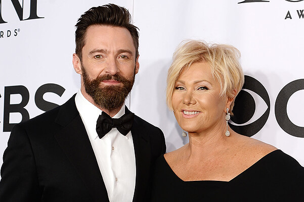NEW YORK, NY - JUNE 08:  Host Hugh Jackman (L) and Deborra-Lee Furness attend the 68th Annual Tony Awards at Radio City Music Hall on June 8, 2014 in New York City.  (Photo by Dimitrios Kambouris/Getty Images for Tony Awards Productions)