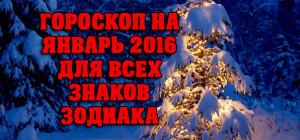 Гороскоп На Январь 2016 Для Всех Знаков Зодиака
